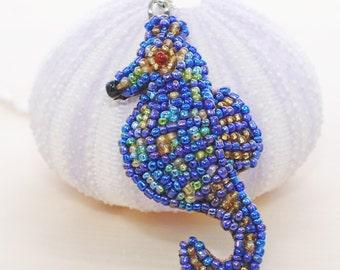 Seahorse Necklace Rainbeau - Seahorse Pendant - Nautical Jewelry - Seahose Jewelry - Ocean Necklace - Sea Necklace