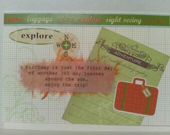 Retro Adventure Birthday Card