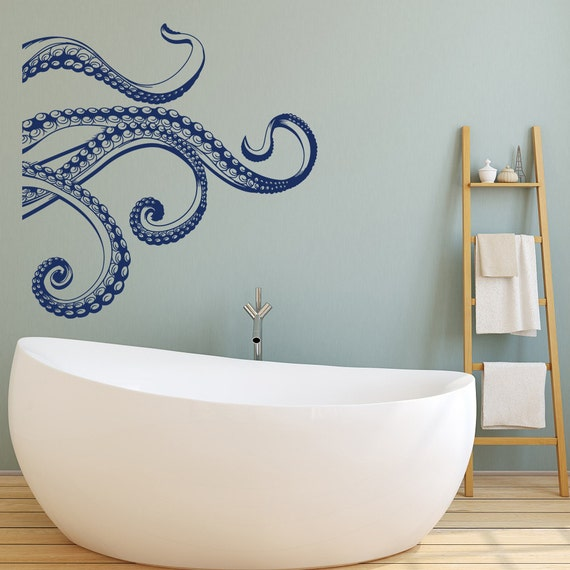 Amazing Kraken Octopus Tentacles Vinyl Wall Decal Octopus Wall Decal