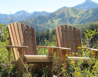 2 Adirondack Chairs - unfinished Kits - or - Partially Assembled - 99% CLEAR WOOD