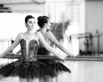 Ballet Photography, Black & White Photography, Ballerina, Mirror, South Africa, Fine Art Photography, Ballet Print Art, Wall Art