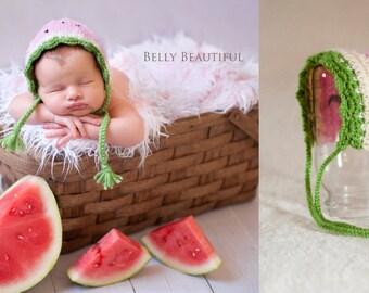 Baby Watermelon Hat Crochet Pattern - Baby Summer Hat Crochet Pattern - Baby Fruit Hat Crochet Pattern - Summer Bonnet Crochet Pattern