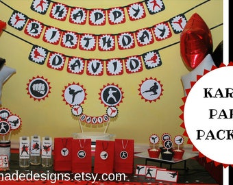 Karate Birthday Party Package - Tae Kwon Do Birthday Party Decorations - Martial Arts Birthday Party Decorations - Ninja Birthday Decoration