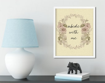 Abide With Me Printable
