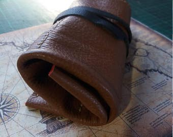 Toll Roll , Leather Watch Roll , Personalized , Canvas , Leather Roll up pencil case