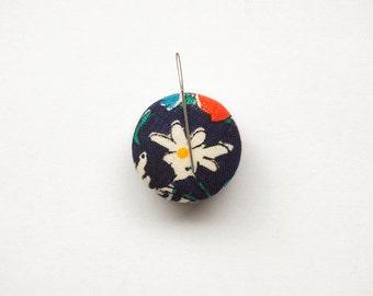 Needle Minder, Design #7 - Vintage Blue Floral, Cross Stitch Accessory