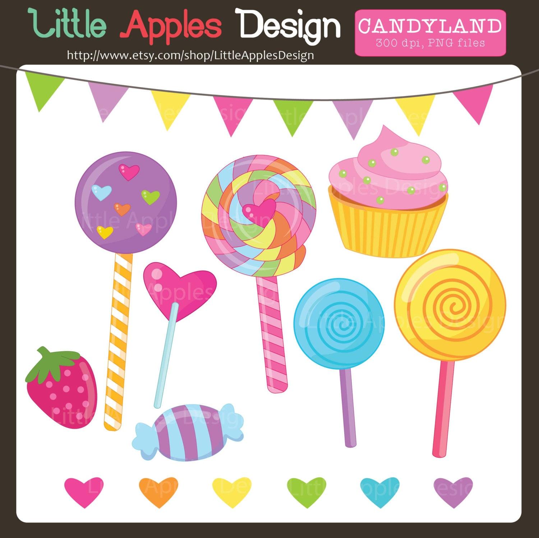 lollipop clip art lollipop clipart candyland clipart rh etsy com candyland castle clipart candyland candy clipart