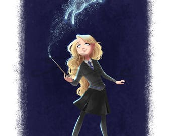 Luna Lovegood Digital Drawing ( Harry Potter )