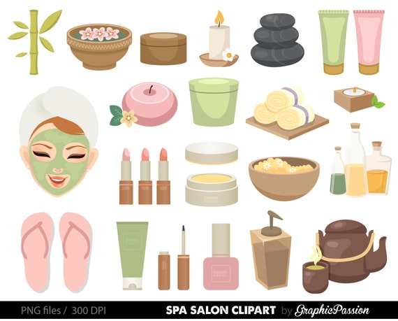 spa girls clipart manicure clipart cute spa girls clipart rh etsy com spa clipart png spa clip art images