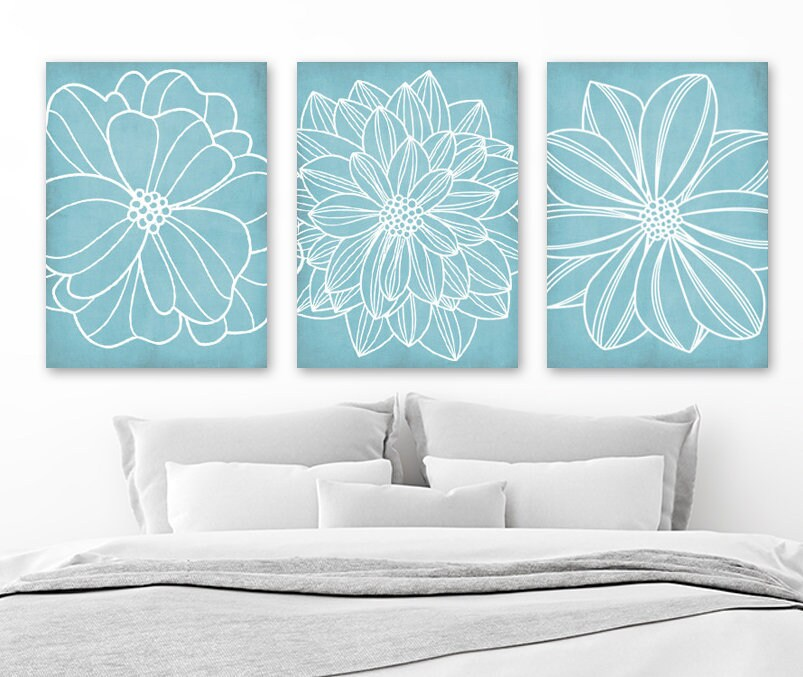 Light Blue Bathroom Wall Art Canvas Or Prints Blue Bedroom