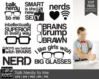 Talk Nerdy to Me / Nerd svg / Nerd Humor svg / Nerd Quotes svg / Funny Nerd svg / Nerd Sayings svg / svg files / svg for Cricut / svg bundle