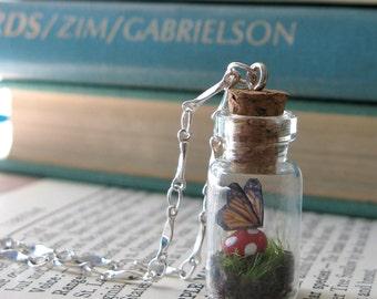 Teeny Tiny Butterfly Terrarium Necklace