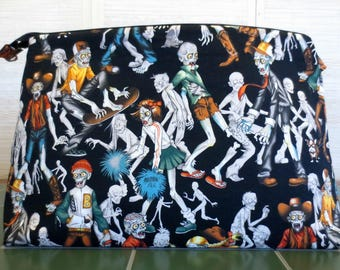 Zombie High School, Jumbo Project Bag, Extra Large Knitting Project Bag, Zippered Knitting Bag, Crochet Project Bag, Yarn Tote