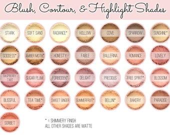Custom Mixed Blush Powder - Vegan All Natural Mineral Makeup