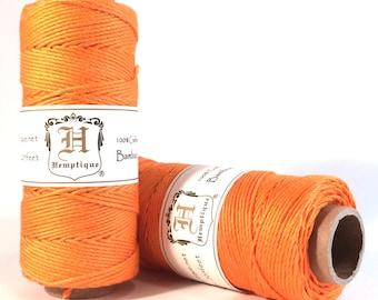 Bamboo Cord, Neon Orange, 100% Bamboo, 205 Feet, 1mm, Bamboo Twine, Macrame Cord