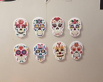 Sugar Skull Magnets (set of 8)