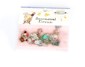 Stickers - Sentimental Circus | Flake Stickers | Circus Stickers | Cute Stickers | Diary Stickers | Scrapbook Stickers