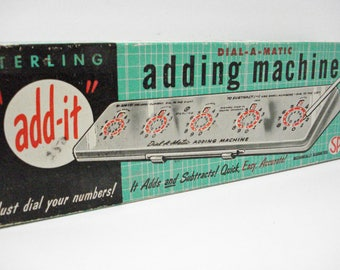 Dial A Matic Adding Machine By Sterling Plastics Co Vintage