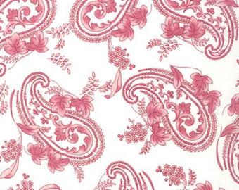 Bunny Hill Designs for Moda, Windsor Lane, Paisley in Porcelain Petal 2842.11 - 1 Yard