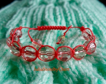 Beads and cord bracelet