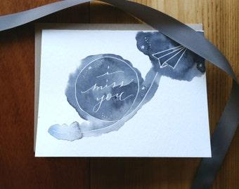 I Miss You Card : Handwritten