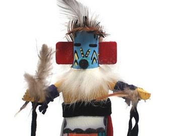 Blue Hu Kachina, First American Art, Hopi Kachina Doll, Native American Spirit Figurine