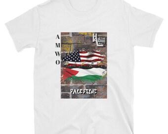 AMWO T-shirt - USA/Palestine