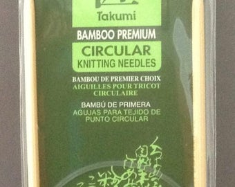 Size US 7 Clover Takumi Premium Bamboo Circular Knitting Needles  ~ 4.5mm / 24""