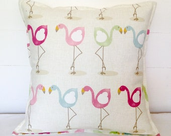 "Cushion Cover, Flamingos Cushion Cover 16"" 18"" 20"", Flamingos Cushion, Flamingos Pillow Cover, Flamingos, Scatter Pillow, Scatter Cushion"