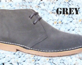 Men's LEATHER Desert Boots, Safari Boots, Chukka Boots
