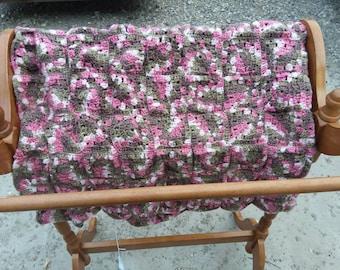 Pink Camo Afghan