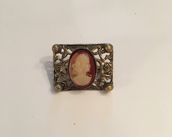 Miniature cameo brooch