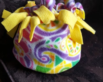 Adult HatBand bright paisley with yellow