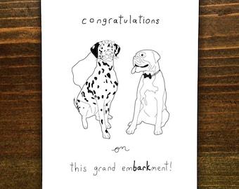 Congratulations On This Grand EmBARKment - Handmade Card