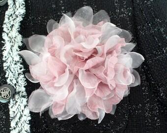 Pink Flower corsage brooch pins,prom,wedding corsage,boutonniere