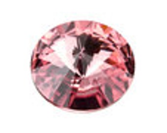 Swarovski 1122 12mm Rivoli - Blush Rose