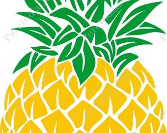 Pineapple SVG, Pineapple Monogram SVG, SVG Files, Cricut Cut Files, Silhouette Cut Files, Eps, Png,Dxf,