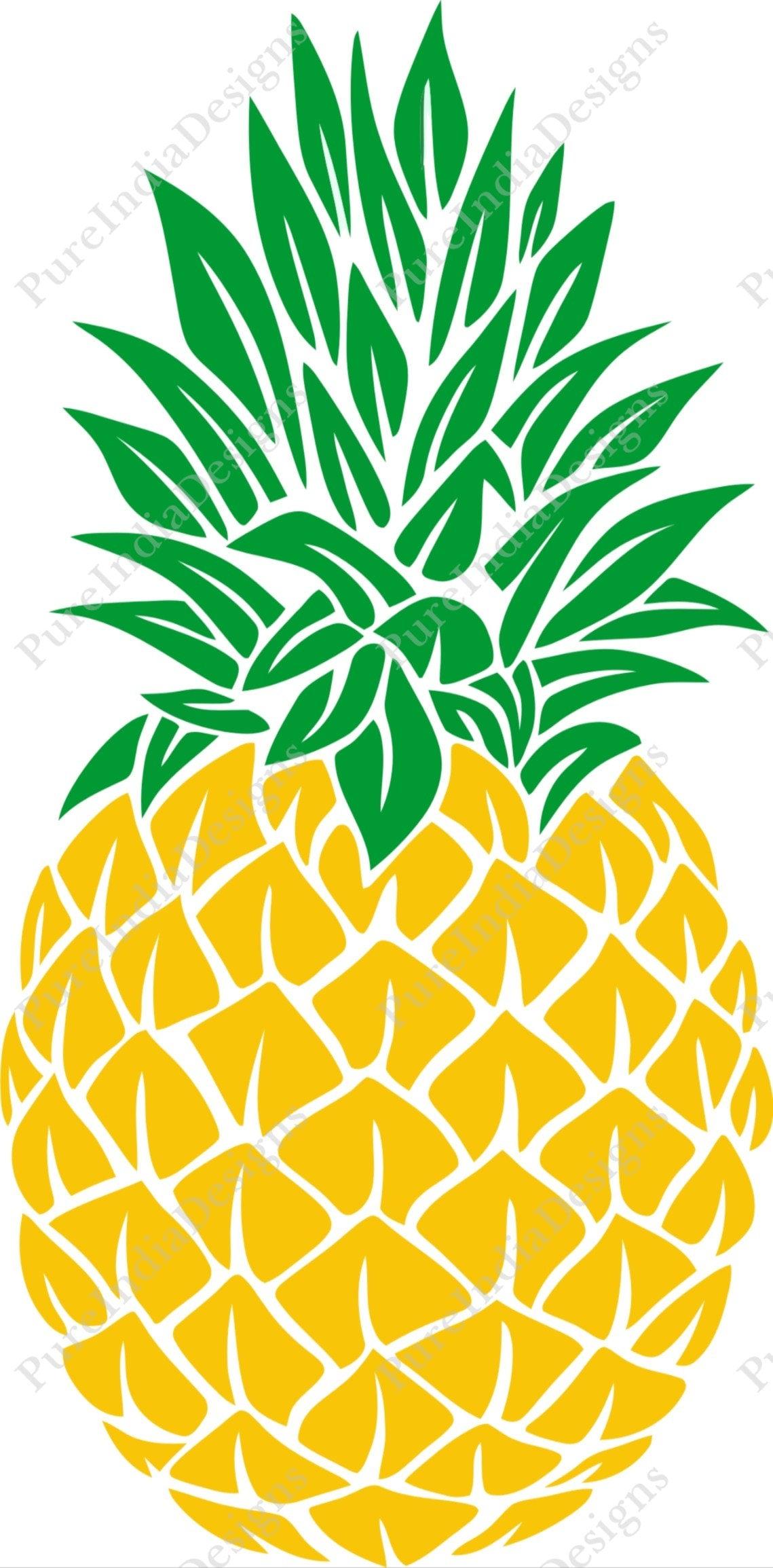 Download Pineapple SVG Pineapple Monogram SVG SVG Files Cricut Cut