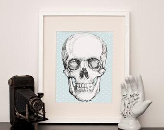 Dotty Skull - Art Print - various sizes