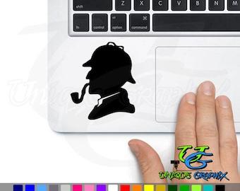 Sherlock Holmes Decal Macbook Laptop Car Sticker