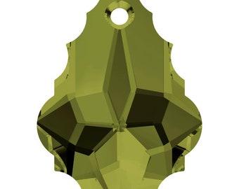 Swarovski Crystal Baroque Pendant Beads 6090 - 16.0x11.0 - Olivine