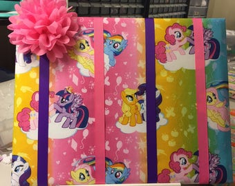 My little Pony colorful bow holder, bow organizer, bow board