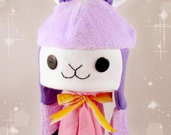 Purple Alpaca Fleece Hat