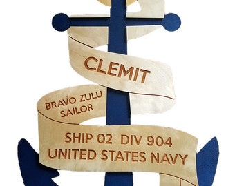 Navy Door Banner - Navy Bootcamp Graduation Gifts - US Navy Gifts - PIR Navy