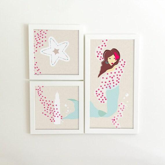 Mermaid Decor - Mermaid Wall Art - Little Mermaid - Mermaid Wall Decor - Mermaid Print - Mermaid Nursery - Mermaid Baby Shower - Mermaid