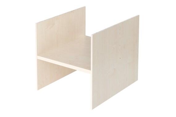 ikea kallax regal einsatz mit 1 fachboden ablagefach extra. Black Bedroom Furniture Sets. Home Design Ideas