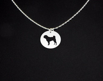 Pug Necklace - Pug Jewelry - Pug Gift
