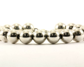 Vintage Beads Beaded Chain Bracelet  925 Sterling BR 1889-E
