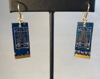 Circuit Board Earrings - Computer Parts - Computer Earrings - Computer Parts Earrings -