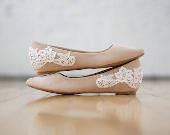 Nude wedding shoe | Etsy